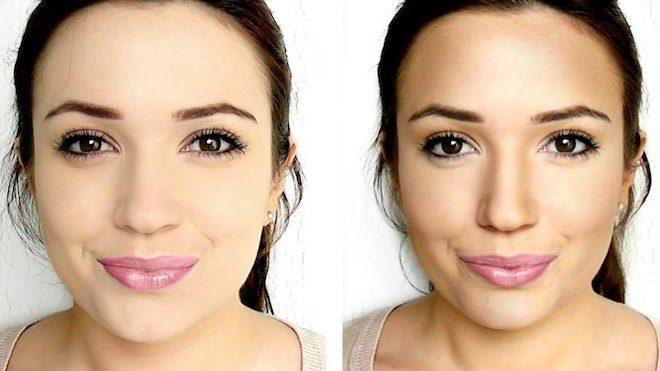 maquillaje para nariz ancha