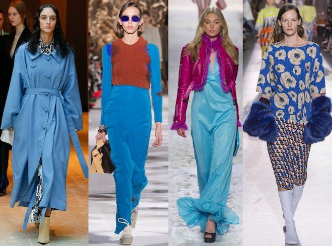 colores de moda invierno 2017 2018 celeste azul