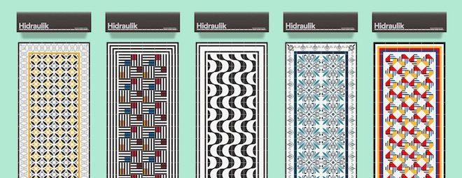 hidraulik tiles alfombras modernas