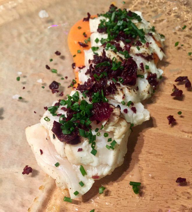restaurante shibui barcelona pez mantequilla
