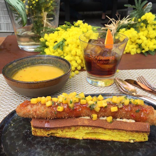 aperitivo jardin mimosa Mandarin Barcelona