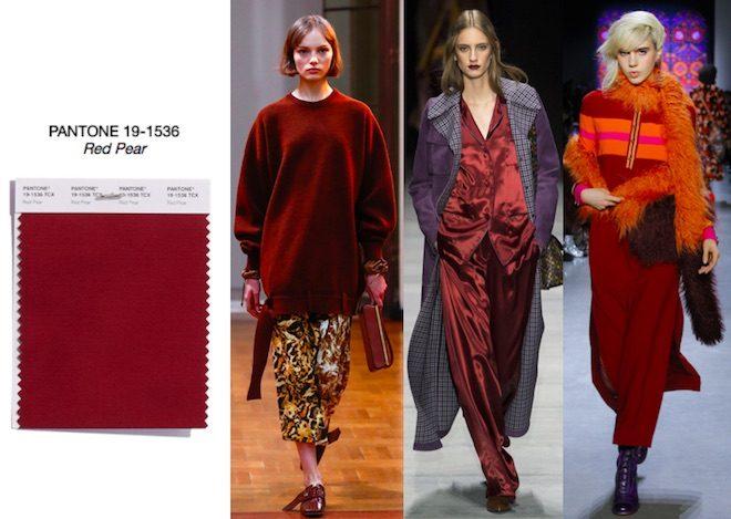 colores de moda invierno 2018 red pear