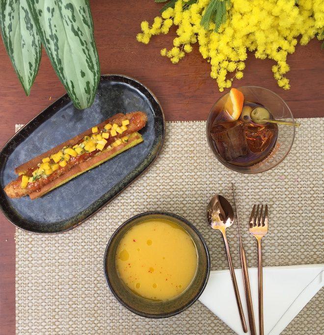 jardin mimosa aperitivo Mandarin Barcelona