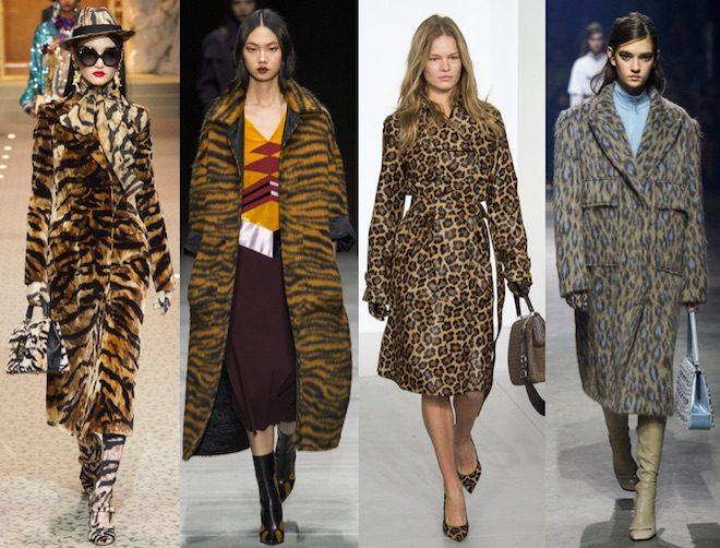 abrigo animal print moda invierno 2018