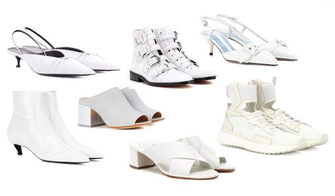 zapatos de moda pv18 white shoes