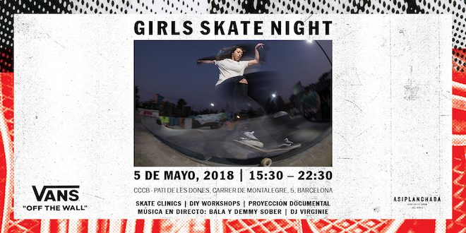 Girls Skate Night vans barcelona