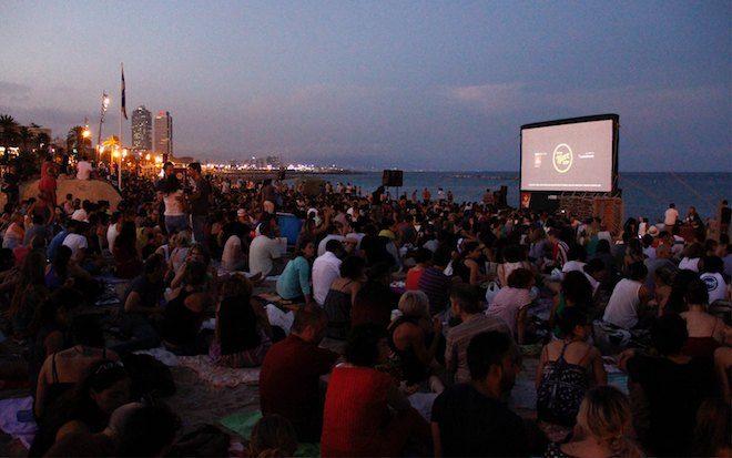 cine de verano en barcelona playa