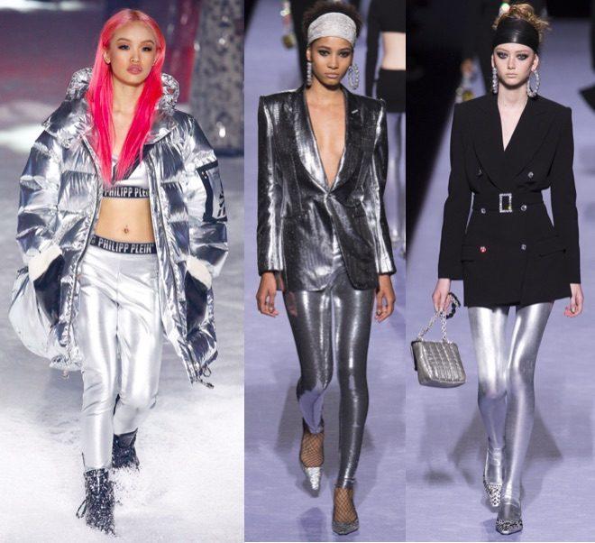 Moda invierno 2018 athleisure silver