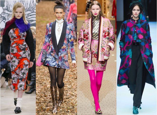 moda invierno 2018 tendencia flores