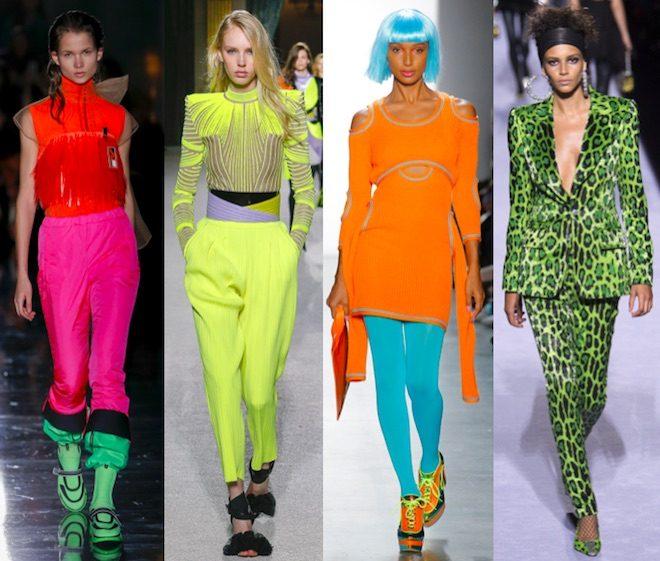 moda invierno 2018 tendencia fluor