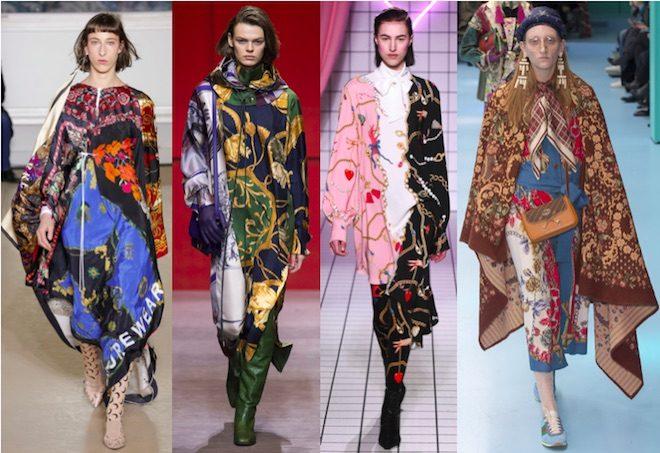moda invierno 2018 tendencia foulard