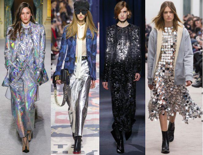 moda invierno 2018 tendencia shiny