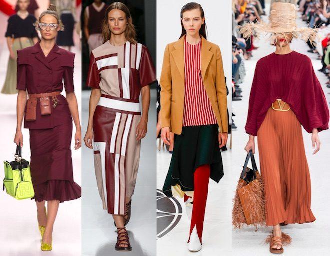 colores de moda primavera verano 2019 bourdeaux