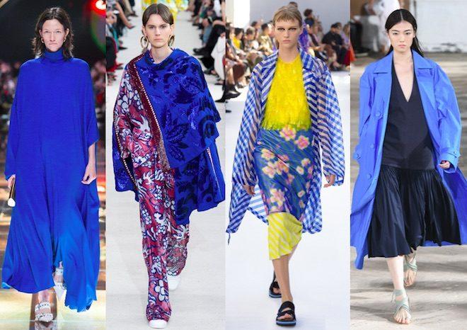 colores de moda verano 2019 azul