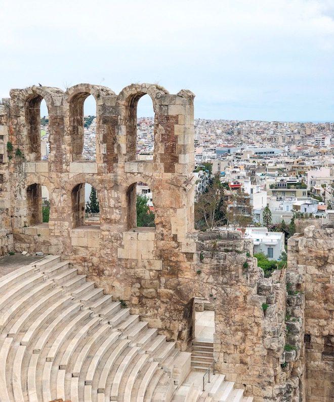 viaje a atenas acropolis vista ciudad