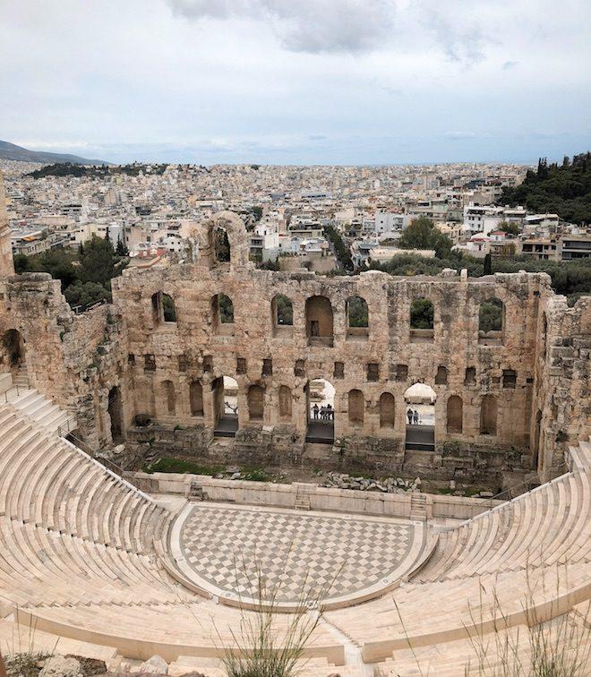 viaje a atenas teatro griego