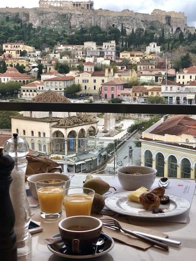 viaje a atenas vistas desayuno a for athens