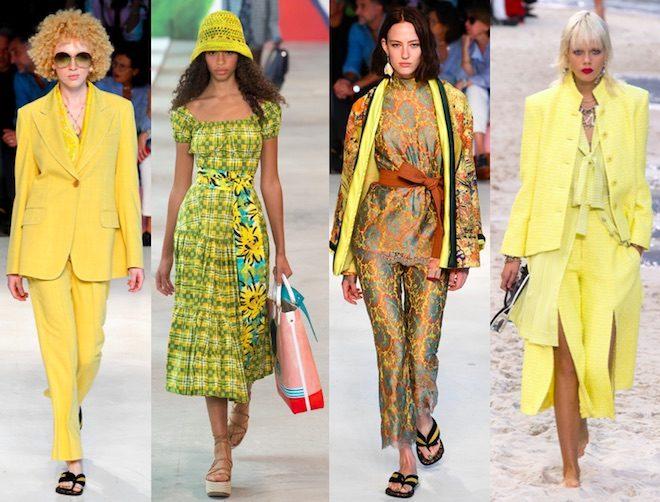colores de moda primavera 2019 amarillo