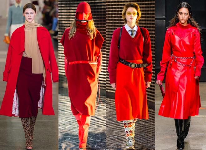 colores de moda invierno 19-20 rojos