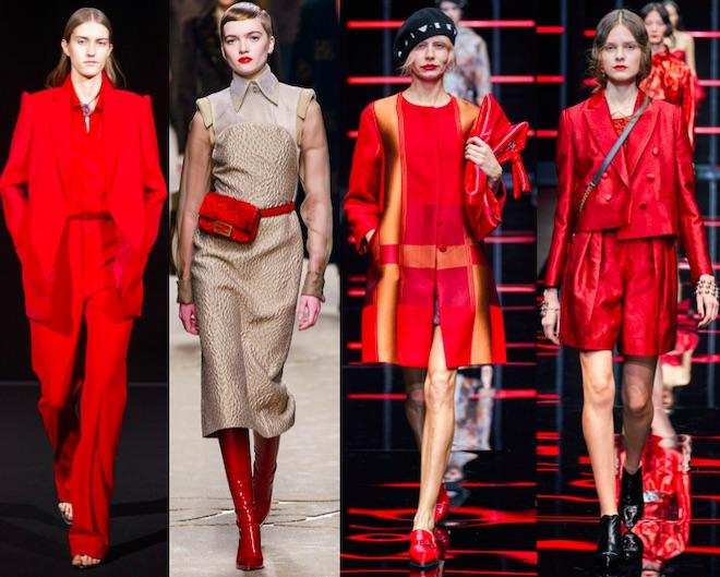colores de moda invierno 2019 2020 rojo