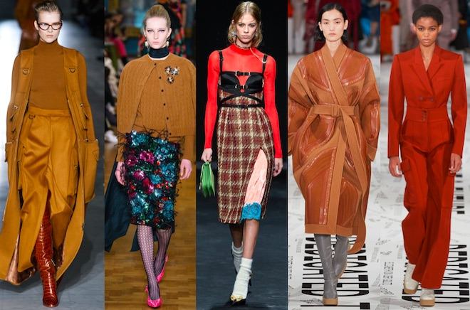colores de moda otono invierno 2019 2020 marron