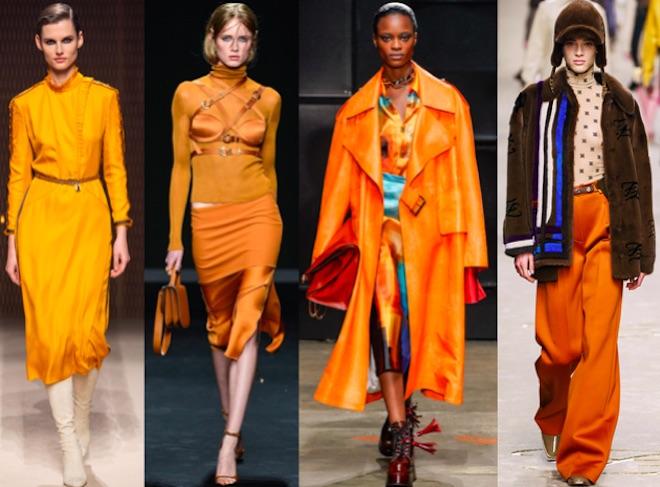 colores de moda otono invierno 2019 2020 naranja