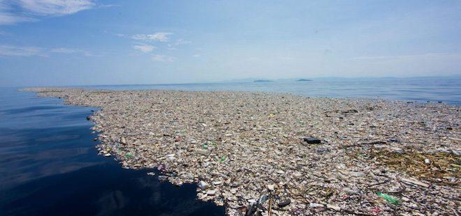 isla de plastico oceano