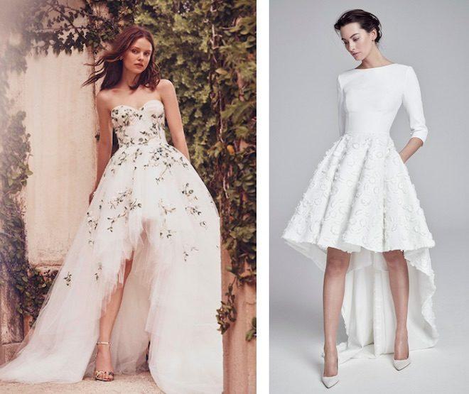 vestido de novia falda tail hem
