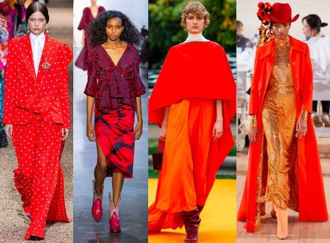 colores de moda pv2020 rojo vivo