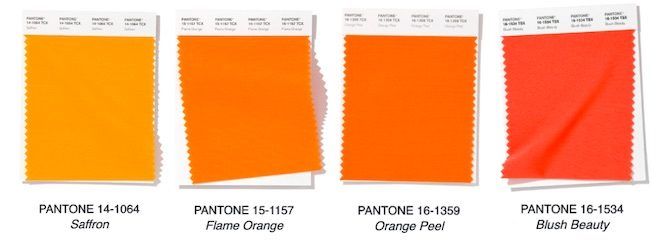 naranja colores moda primavera 2020