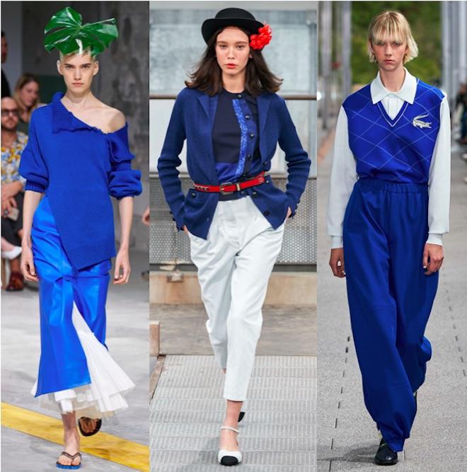 classic blue color de moda 2020 con blanco