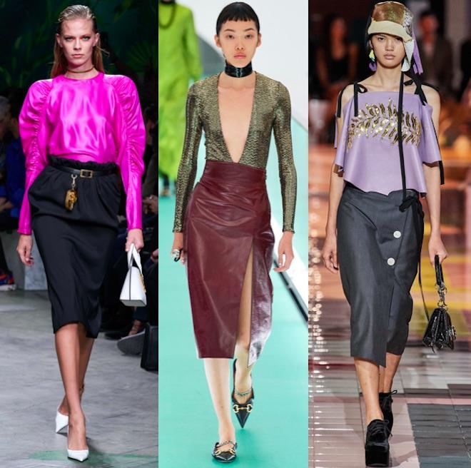 moda primavera 2020 falda lapiz
