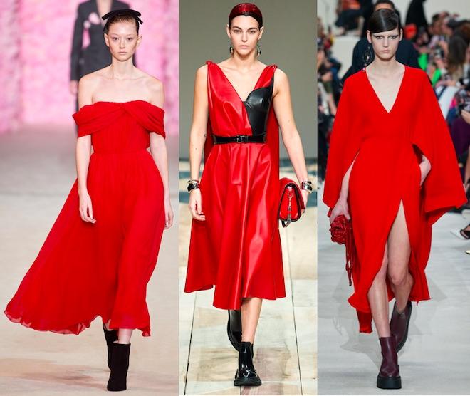 colores moda invierno 2021 rojo samba