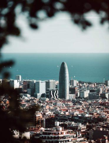 terraza con vista barcelona