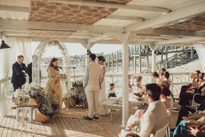 boda intima en la playa