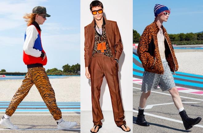moda hombre animal print ss2021