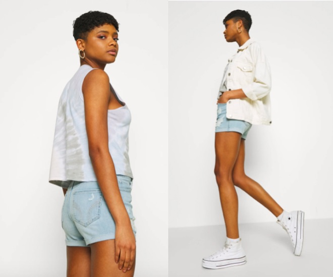 shorts denim hollister