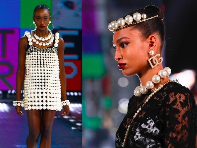 joyas de moda invierno 2021 perlas