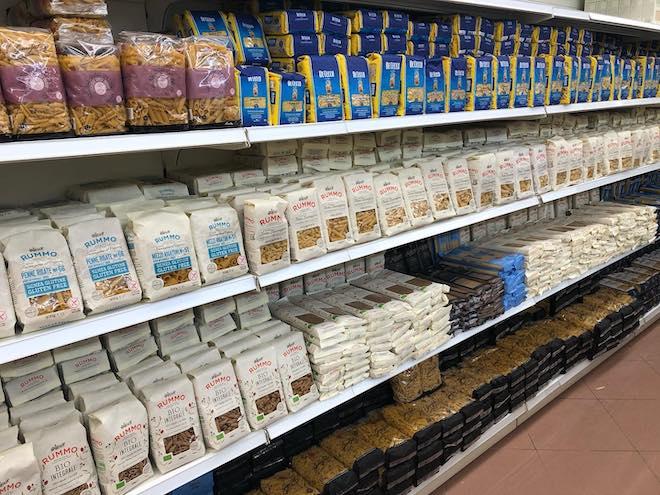 supermercado italiano para comprar pasta